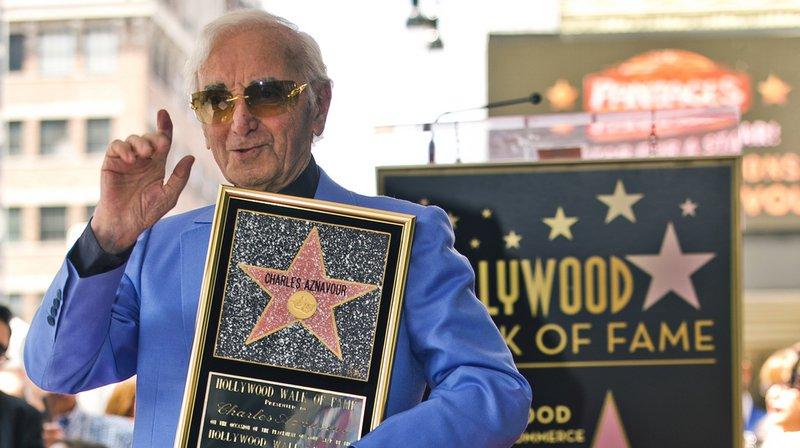 "Hollywood: Charles Aznavour a son étoile sur le ""Walk of Fame"""