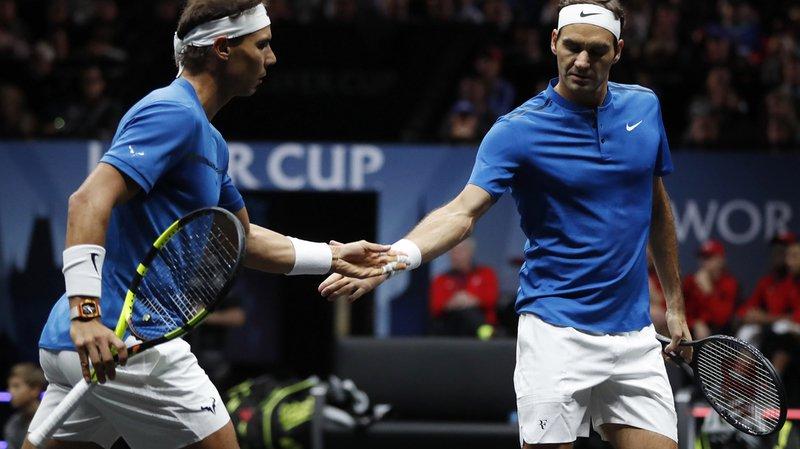 Laver Cup: Federer et Nadal remportent le double 6-4 1-6 10-5 face à Querrey et Jack Sock