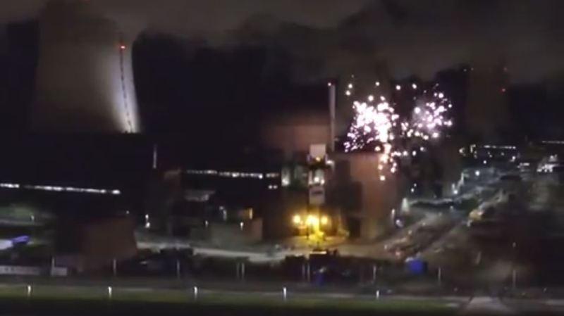 Les feux d'artifice ont été tirés depuis l'intérieur du site nucléaire de Cattenom.