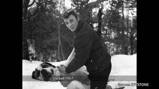 En images: Johnny Hallyday venait souvent en Suisse