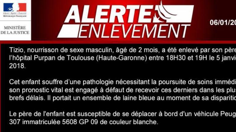 France: un bébé de deux mois en danger de mort a été kidnappé par son père