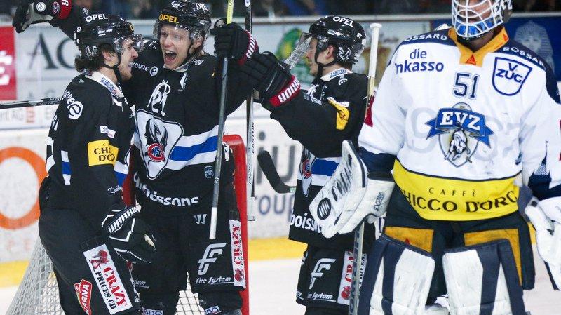 Hockey - National League: Fribourg étrille Zoug et Genève s'effondre face à Lugano