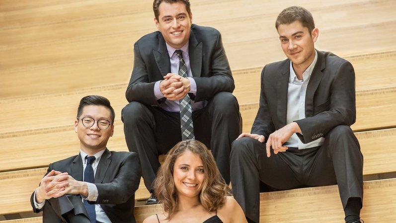 Les quatre jeunes musiciens seront dimanche à Nyon.