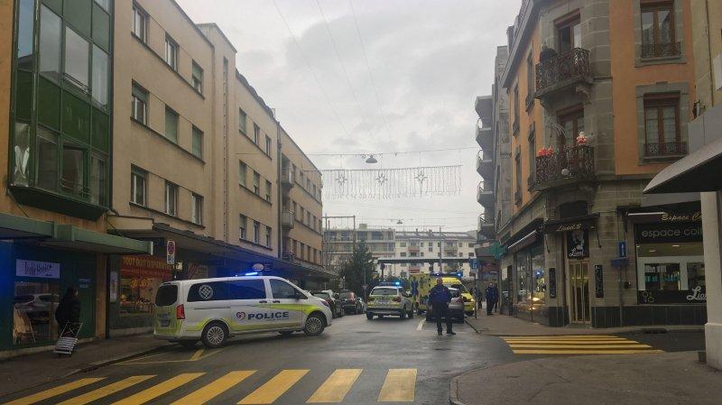 L'intervention a eu lieu au début de la rue de la gare de Nyon, ce vendredi, peu après 13h.