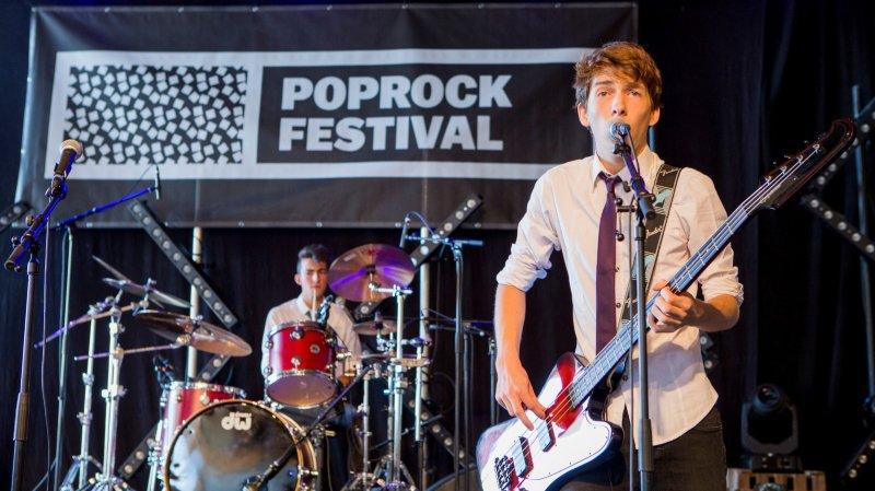 En 2016, concert de Slimy Slugs, de Morges. Le festival ambitionne d'être un tremplin pour de jeunes talents.