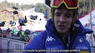 Ski alpin: les skieurs analysent la piste du Lauberhorn à Wengen (BE)
