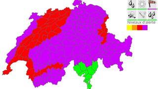 Violente tempête annoncée sur la Suisse dès la nuit de mardi à mercredi
