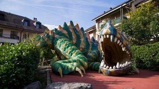 Jugé dangereux, le toboggan-dragon de Préverenges sera détruit