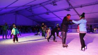 La silent party à la patinoire de Nyon