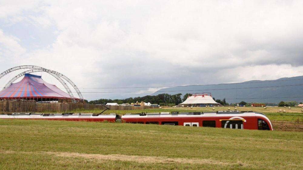 Le future halle de maintenance du Nyon-St-Cergue sortira de terre sur la commune de Trélex, entravant quelque 7000m2sur le terrain  et les zones arrières du Paléo Festival.