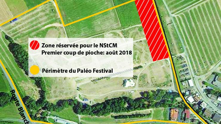 Le terrain du Paléo Festival sera amputé de quelque 7000 m2, que les organisateurs espèrent pouvoir louer ailleurs sur ce site.