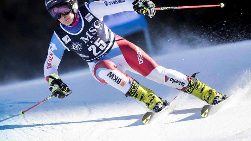 Ski alpin: les Suissesses à la traîne après la 1ère manche du géant de Lenzerheide