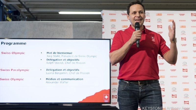 Ralph Stöckli, Chef de mission chez Swiss Olympic, a présenté la délégation et ses objectifs à la presse.