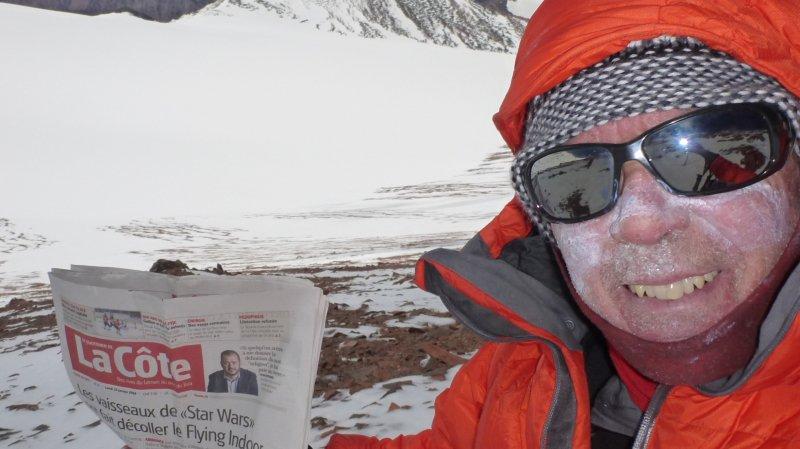 Daniel Perler, l'ancien postier, a livré «Le Quotidien de La Côte» à 6700 m d'altitude