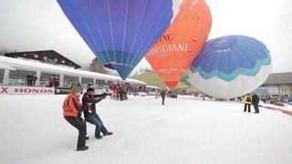Des ballons gonflés à bloc à Château d'Oex