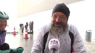 Ski freestyle: les parents du skieur suisse Mischa Gasser ont parcouru 17'000 kilomètres à vélo pour venir l'encourager en Corée