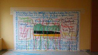Des fresques collectives d'élèves pour apaiser le climat scolaire