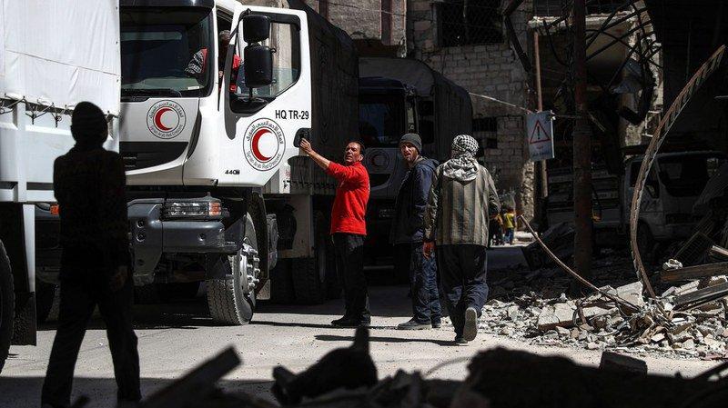 Syrie: livraison d'aides à la Ghouta orientale malgré les bombardements