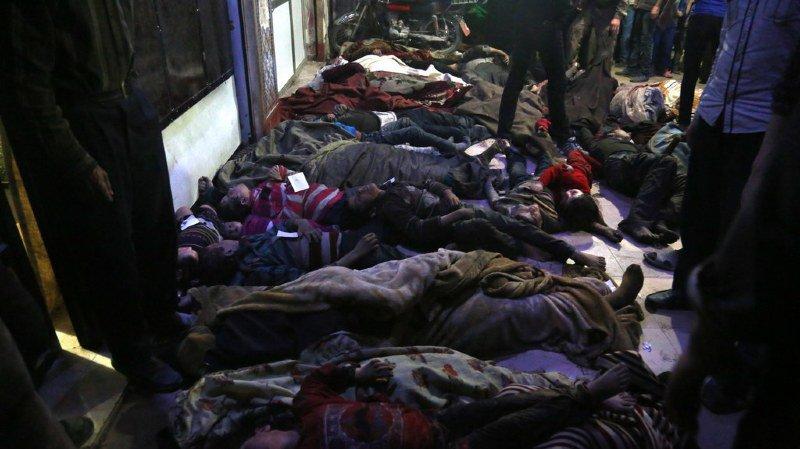 Syrie: l'OMS parle de symptômes liés à une utilisation d'agents chimiques sur 500 personnes