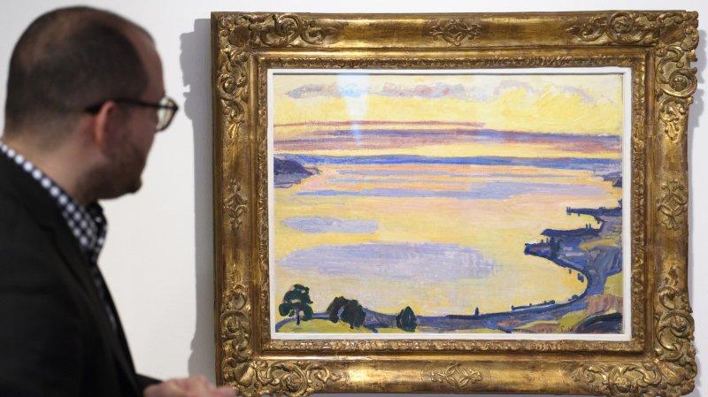 """""""Le Leman vue de Caux au soleil couchant"""" est l'une des peintures de Ferdinand Hodler que les visiteurs pourront observer."""