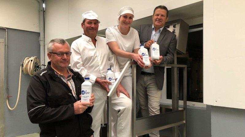 La nouvelle marque de lait, Laitspoir, a été présentée mercredi à Romanel-sur-Morges.