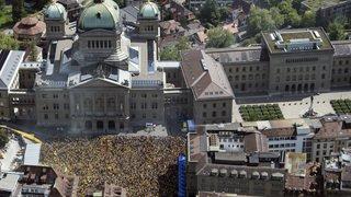 Football: des milliers de personnes célèbrent le titre des Young Boys en ville de Berne