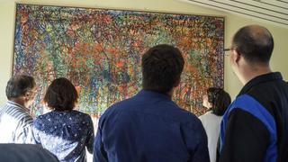 Inauguration des fresques de la paix de l'Etablissement Elisabeth de Portes