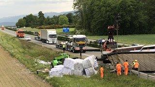 Autoroute fermée entre Gland et Rolle, à la suite d'un accident