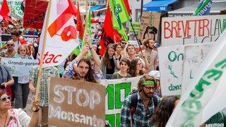 Morges: des manifestants de tous les âges contre Monsanto