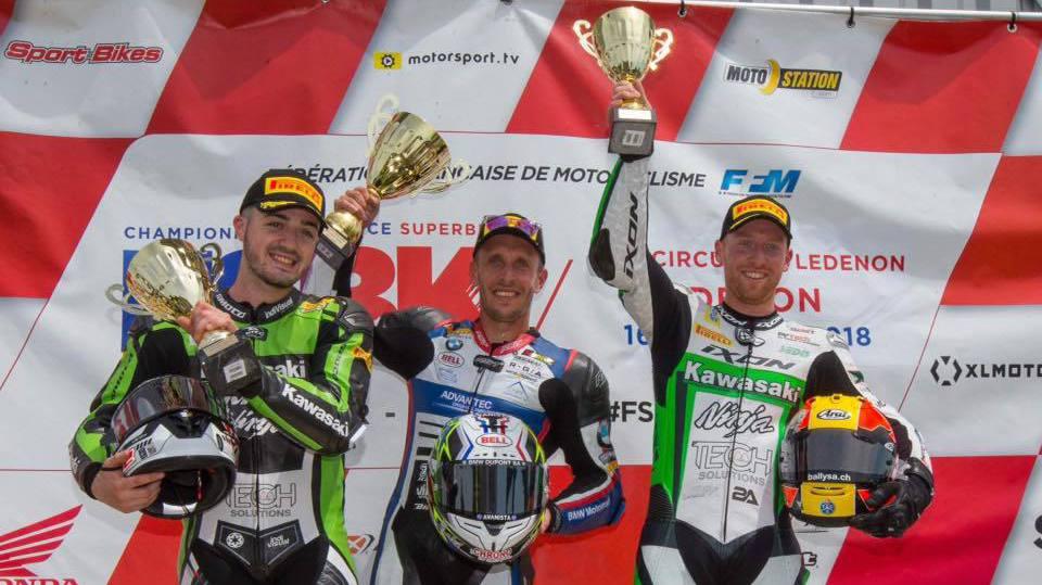 Deux courses, deux podiums, Sébastien Suchet (dr.) a de quoi être satisfait de son week-end.