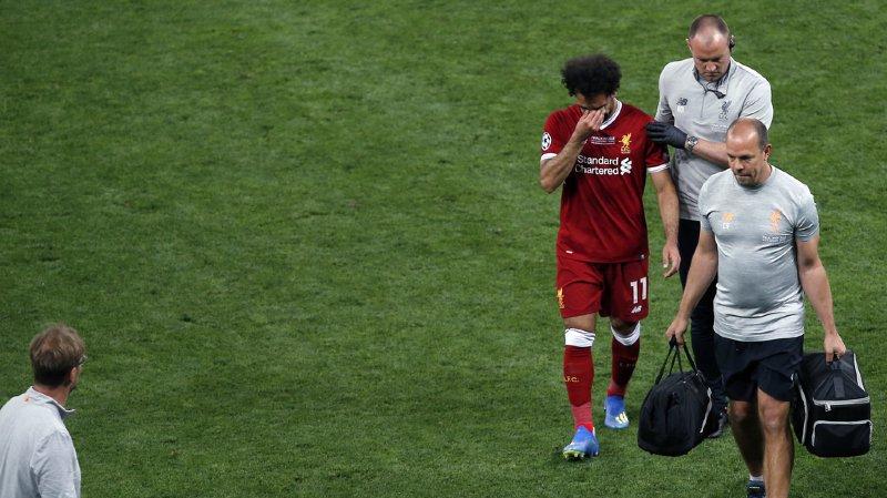 Football - finale de la Ligue des champions: Mohamed Salah sort sur blessure, Carvajal aussi