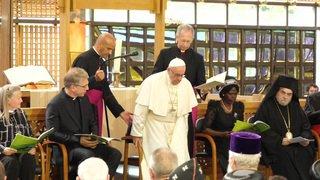 Pape François: Pière au Conseil œcuménique des Églises