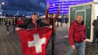Coupe du monde 2018: les supporters suisses font la fête en Russie après la victoire contre la Serbie