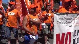 Zurich: manifestation des travailleurs de la construction