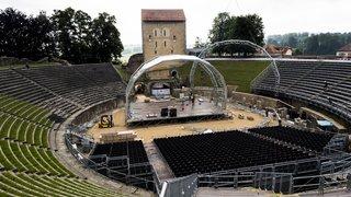 La scène couverte de l'Opéra d'Avenches est installée