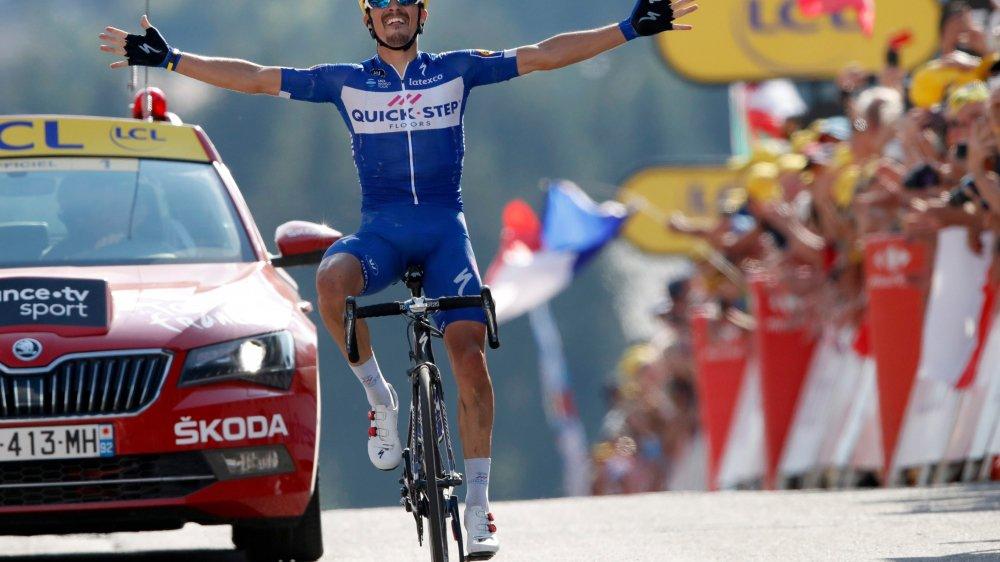 Vainqueur au printemps de la Flèche wallone, Julian Alaphilippe a remporté hier sa première étape sur la Grande Boucle.