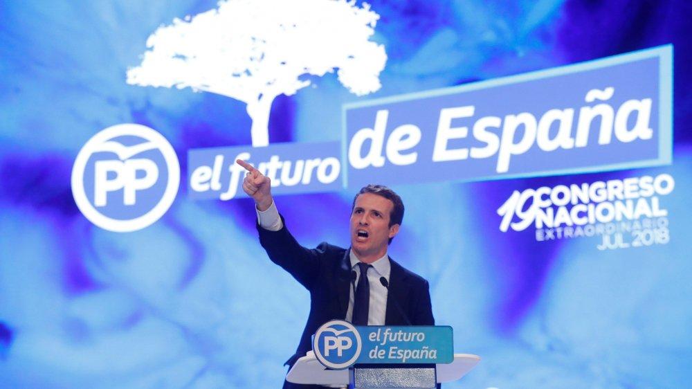 Pablo Casado, nouveau patron  de la droite espagnole.