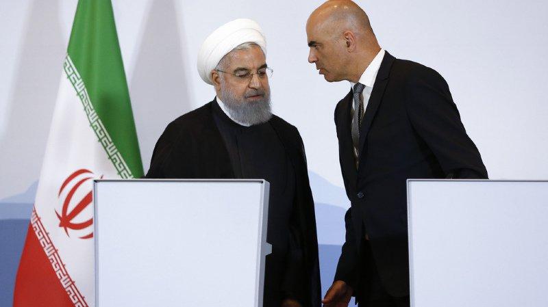 Visite d'Hassan Rohani: la Suisse confirme au président iranien son soutien à l'accord nucléaire