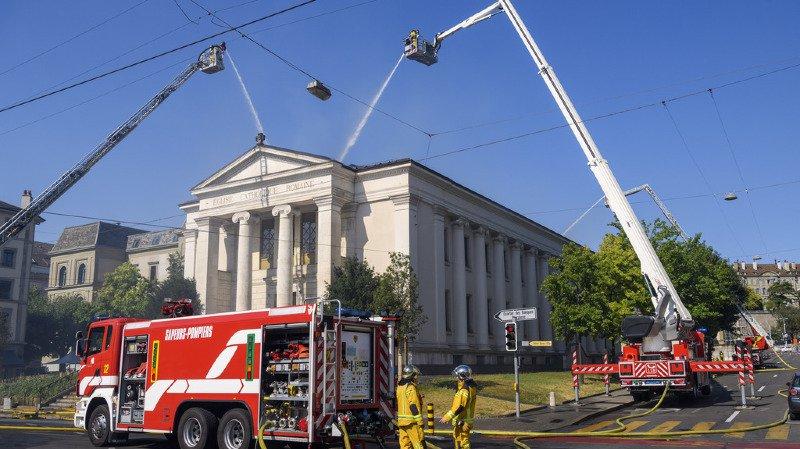 Le bâtiment historique a été très fortement endommagé par le sinistre.