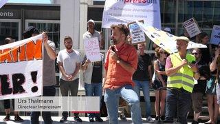 Lausanne: grève et manifestation de journalistes chez Tamedia