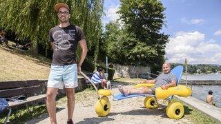 Gland: cet été, les personnes en situation de handicap peuvent se baigner à la Falaise
