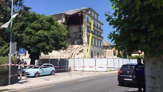 Nyon: un pan de l'hôtel Beau-Rivage s'effondre, la route Suisse fermée