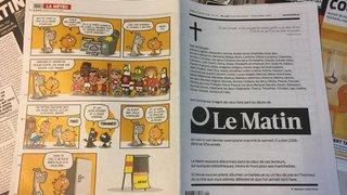 """Presse romande: un avis mortuaire et 64 pages pour la dernière édition papier du """"Matin"""""""