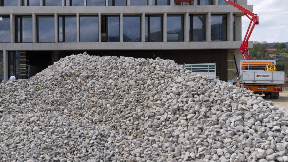 La construction est aujourd'hui en plein boom en Suisse (ici, un chantier près de Romont, dans le canton de Fribourg).