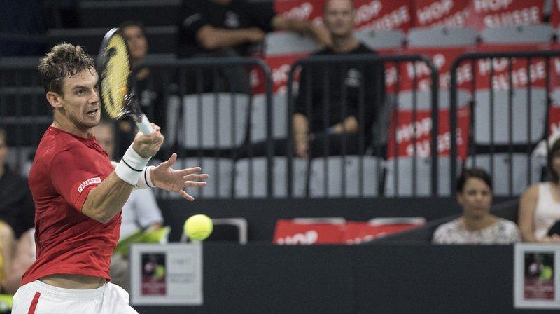 Tennis - Coupe Davis: la Suisse revient à 2 à 2 face à la Suède