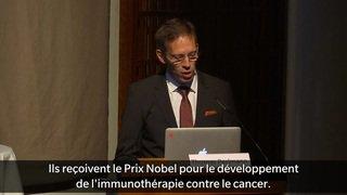 Le Prix Nobel de médecine va à la recherche sur le cancer