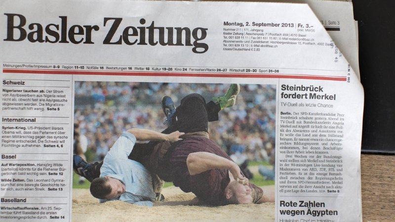 Presse: Tamedia pourra racheter la Basler Zeitung