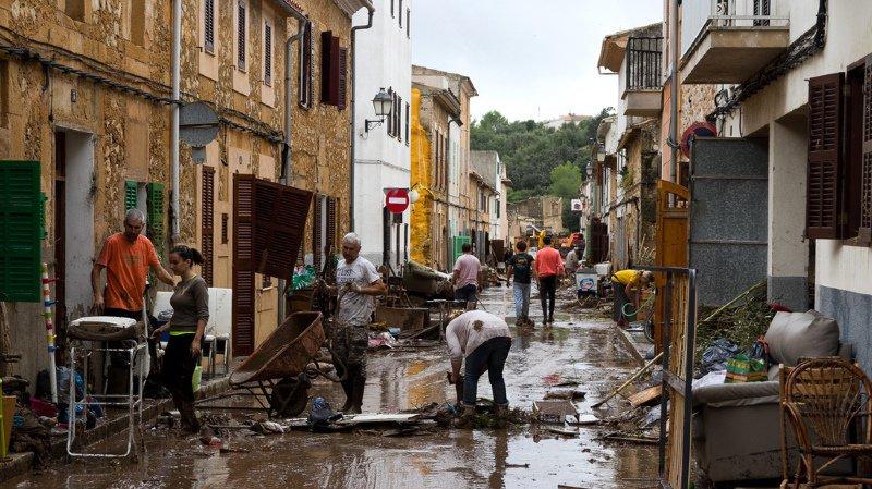 La ville de Sant Llorenc, à 60 km à l'est de Palma, a été ravagée.