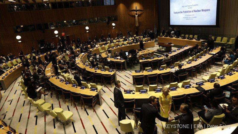 Interdiction des armes nucléaires: la Suisse s'abstient lors du vote à l'ONU