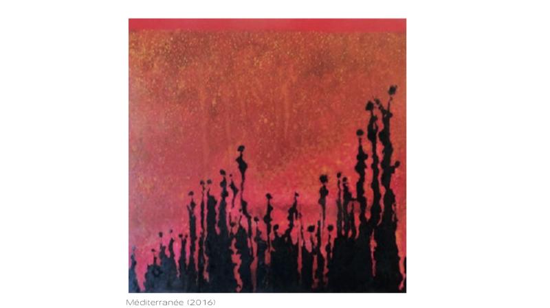 """""""Méditerranée"""" fait partie des toiles qui représentent la position citoyenne du peintre."""
